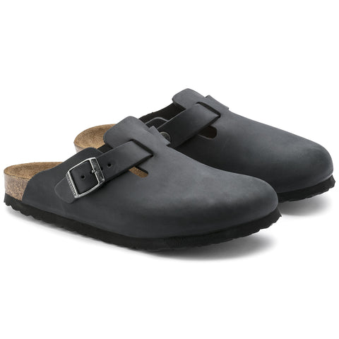 Birkenstock Boston- Nubuck oiled leather - Black  59461