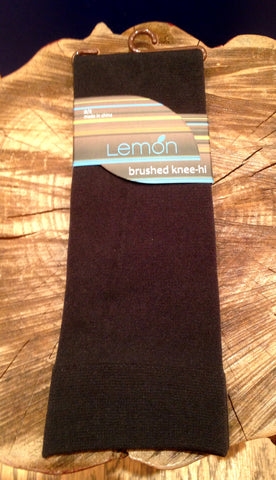 Lemon Brushed Knee-hi Socks - L1000 Pewter