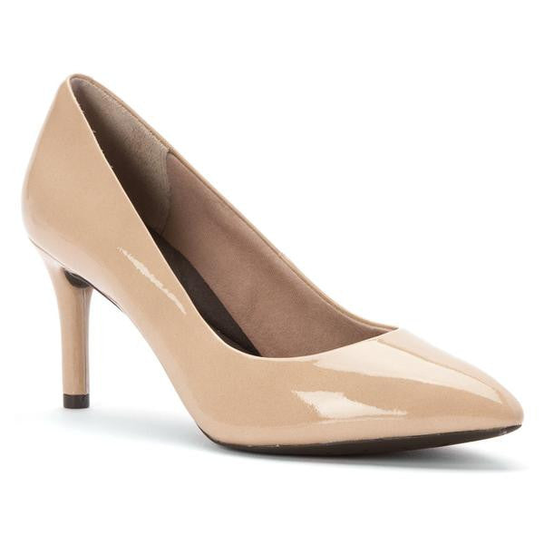 Rockport - Pump - Total Motion -  Warm Nude Patent Leather A11798