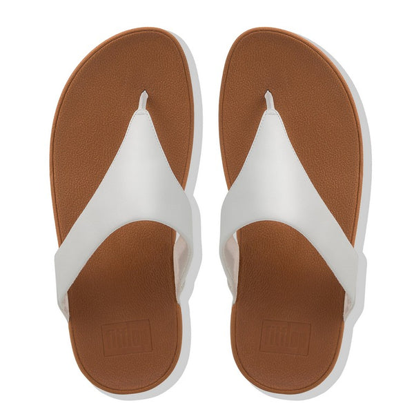 Fitflop Lulu Leather toe post - White - 188-194