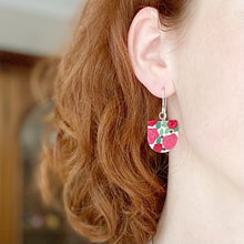 Load image into Gallery viewer, Rose Reverse Arch Dangle Earrings