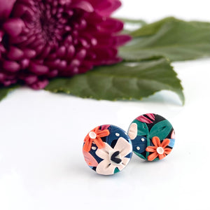 Wild & Bright Circle Stud Earrings