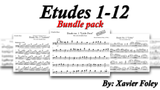 Bundle Pack Etudes 1-12 for solo double bass