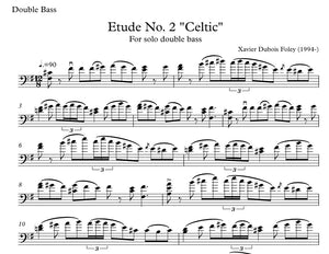 "Etude No. 2 ""Celtic"" for solo double bass"
