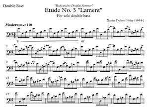 "Etude No. 3 ""Lament"" for solo double bass"