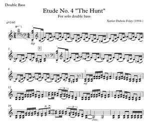 "Etude No. 4 ""The Hunt"" para contrabajo solo"