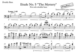 "Etude No. 5 ""The Mystery"" for solo double bass"