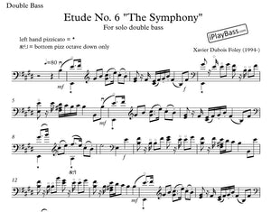 "Etude No. 6 ""The Symphony"" for solo double bass"