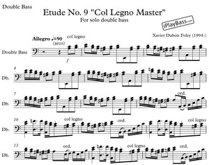 "Etude No. 9 ""Col Legno Master"" for solo double bass"