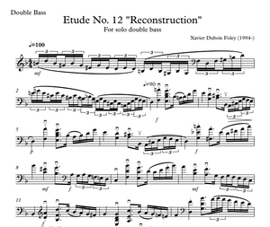 Etude No 12 Reconstruction - Double Bass