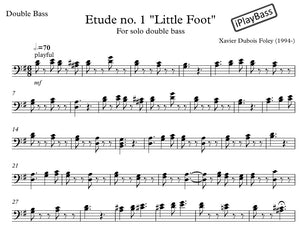 "Etude No. 1 ""Little Foot"" for solo double bass"