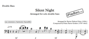 Silent night - solo bass