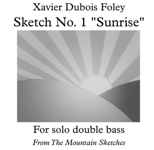 "Sketch No. 1 ""Sunrise"" by Xavier Foley - The Mountain Sketches"