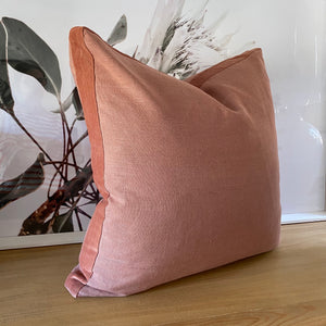 Coca Mojo Essential Linen Cushion 'Rose Ginger'
