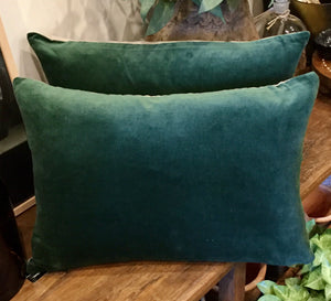 Velvet Linen Lumbar Cushion
