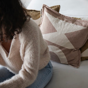 Woman Cushion 'Donkey & Oat'