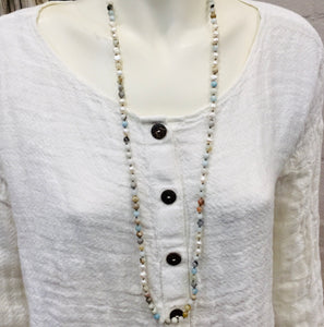 Necklace Stone & Pearl