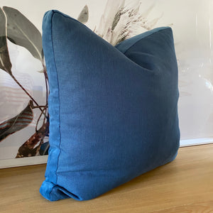 Coca Mojo Essential linen Cushion - 'Blue'