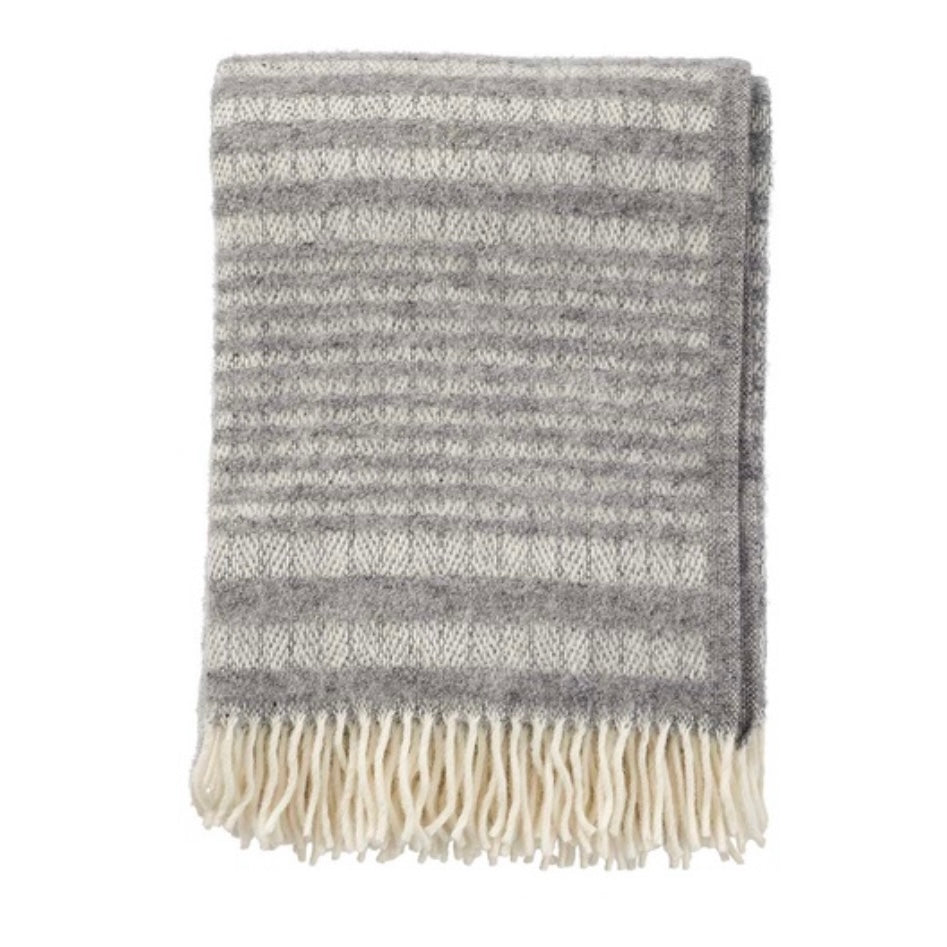 Roy Grey Wool Blanket