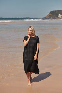 Carol Kaftan Dress Nero