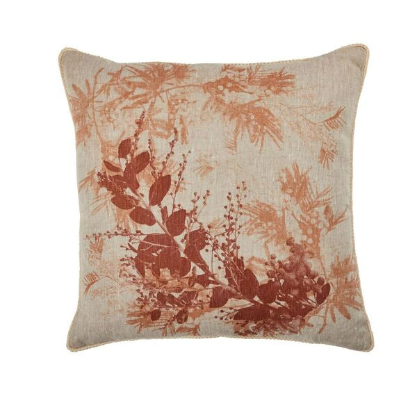 Wattle Linen Cushion