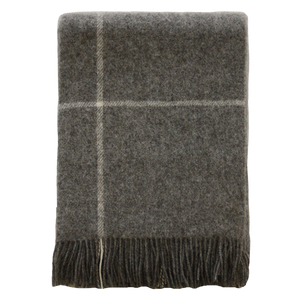 Porter Wool Throw Grey