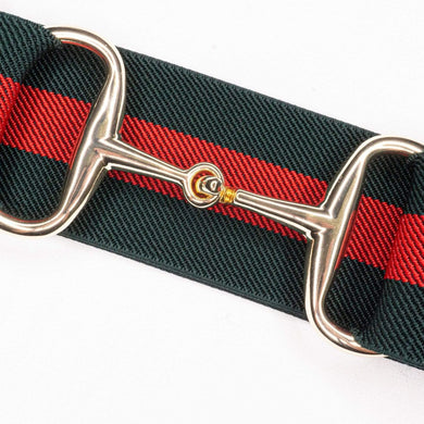 kingston red and green stripe ellany belt