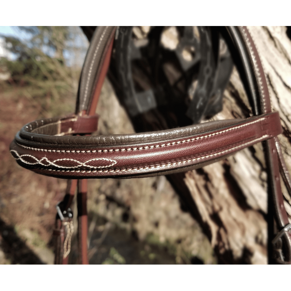 Edgewood Fancy Stitched Raised Padded Browband
