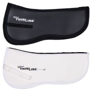 horse saddle pad black and white thinline