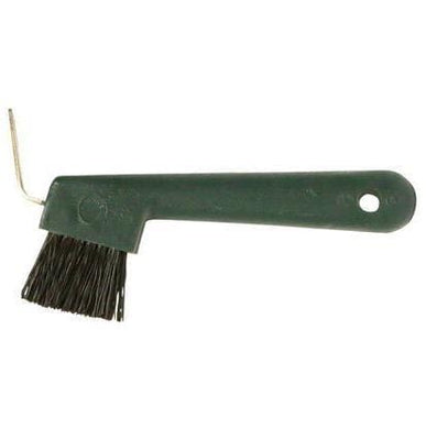 Green hoof pick
