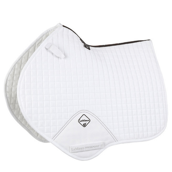LeMieux Prosport Suede Close Contact Pad - White