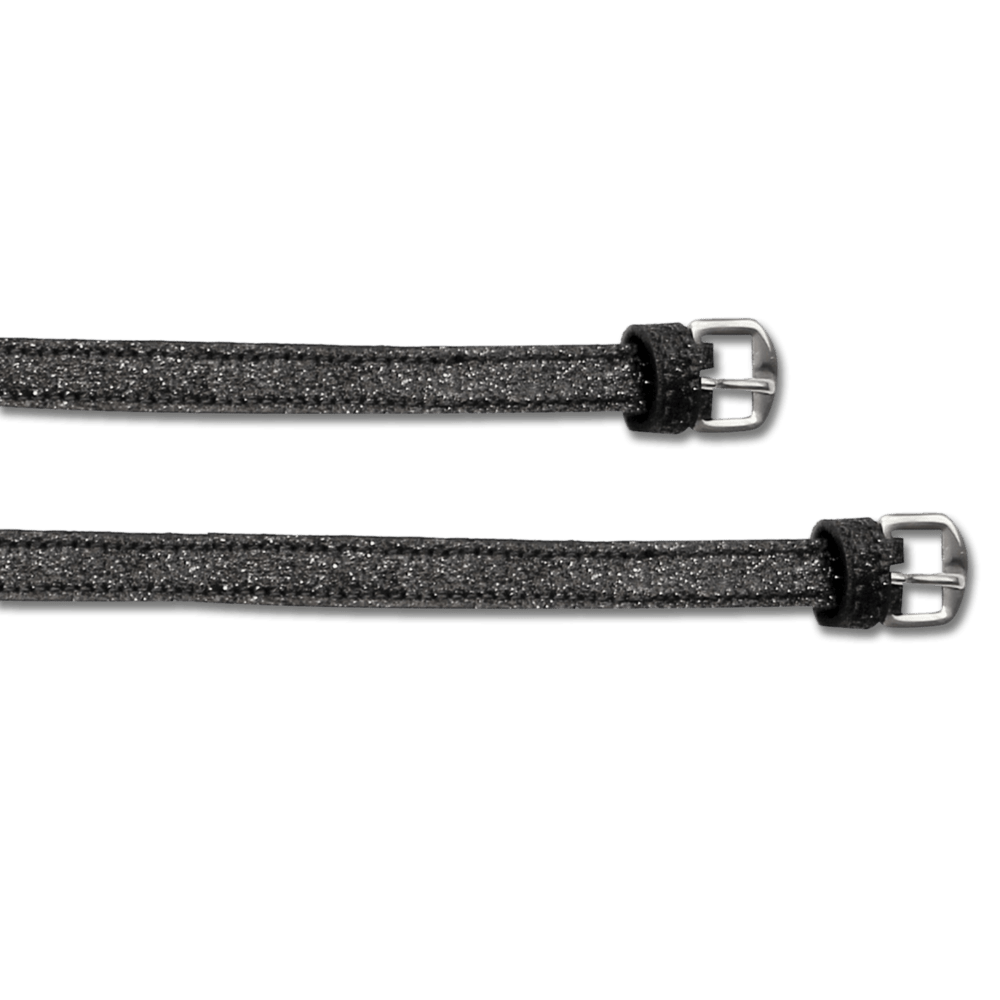 Black Shine Spur Straps