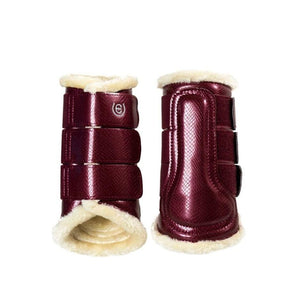 Bordeaux brushing boots - closed