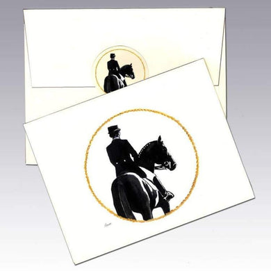Note Card with dressage rider
