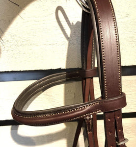 "Edgewood Fancy Stitched Raised Bridle - 1"" Fully Padded"