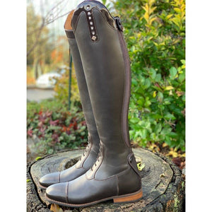 Custom DeNiro Brown Field Boots - Patent Roma Top
