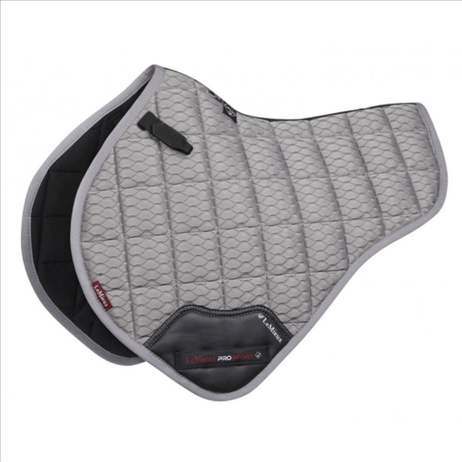 LeMieux Carbon Mesh Shaped Close Contact Pad - Light Gray