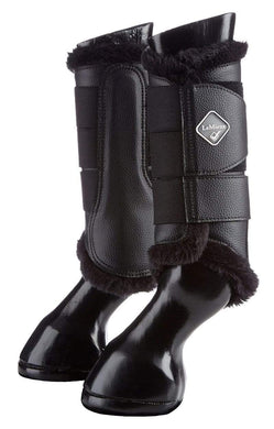 LeMieux Fleece Brushing Boots - Black