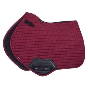 LeMieux Prosport Suede Close Contact Pad - Mulberry