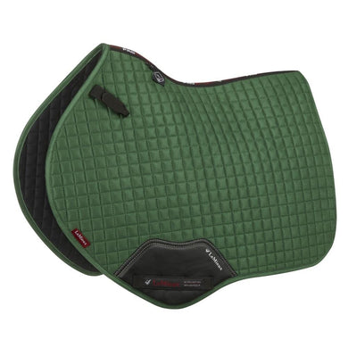 LeMieux Prosport Suede Close Contact Pad - Hunter Green