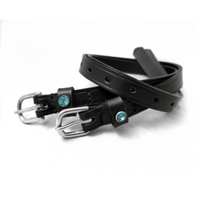 Load image into Gallery viewer, OTTO SCHUMACHER SPUR STRAPS WITH SWAROVSKI CRYSTALS - TURQUOISE