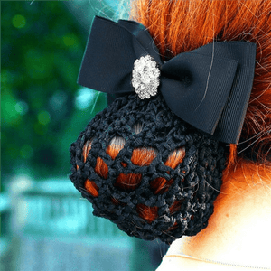 Spiced Equestrian Button Show Bow