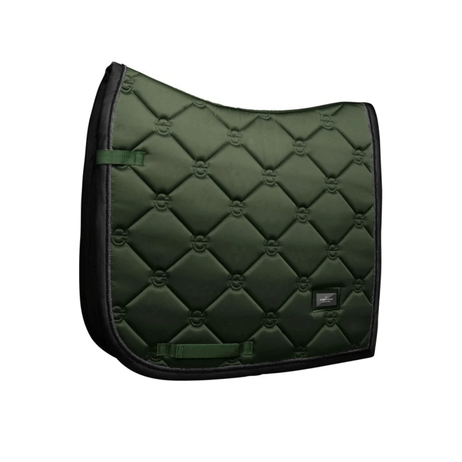 equestrian stockholm dressage saddle pad - deep olivine