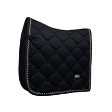 Load image into Gallery viewer, equestrian stockholm dressage saddle pad - black edition