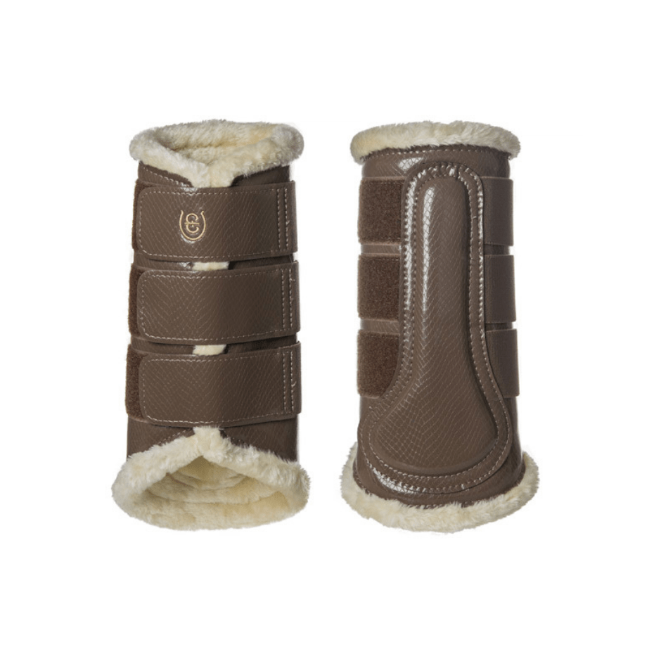 equestrian stockholm brushing boots - champagne