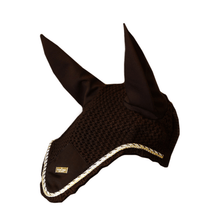 Load image into Gallery viewer, equestrian stockholm ear bonnet - golden brown