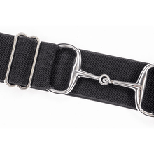Load image into Gallery viewer, black and silver ellany belt