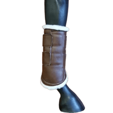 Load image into Gallery viewer, brown valena hind boot inside view