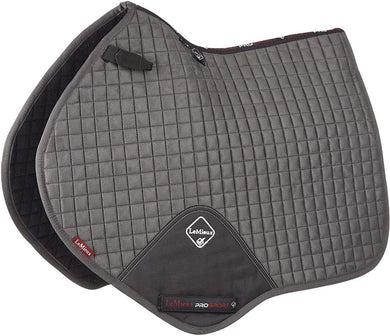LeMieux Prosport Suede Close Contact Pad - Grey