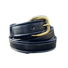 Load image into Gallery viewer, Black belt with brass buckle